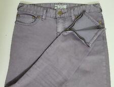FREE PEOPLE Crop Capri Skinny Jeans Women's Size 26 Lilac Zip Leg 61855-16515125