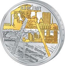 """10 Euro Gedenkmünze Deutschland 2003 """"Ruhrgebiet"""", Polierte Platte,teilvergoldet"""