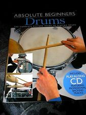 ABSOLUTE BEGINNERS DRUMS COMPLETE PICTURE GUIDE + CD 1999 40 PAGES