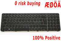 For HP Envy 17-1000 17-1080eo 17-1190eo 17-2092 Keyboard Nordic Swedish Backlit