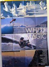WHITE MAGIC (A0-Kinoplakat / Filmplakat '94) - WILLI BOGNER / SCHNEE / SKI