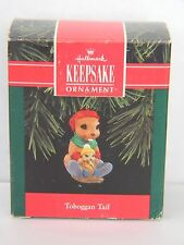 Toboggan Tail - Beavers Sledding on Tail - Hallmark Keepsake Ornament 1992