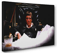 Scarface Al Pacino Gallery Wrapped Canvas Wall Art (Ready To Hang)