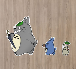 Totoro Soot Dust Bunny Leaf Vinyl Decal Sticker for Laptops Car Bumpers Phone