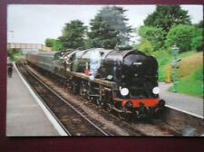 POSTCARD WEST COUNTRY CLASS LOCO 34016 'BODMIN' AT ROPLEY STATION