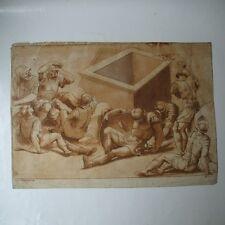 GRAVURE STEFANO MULINARI 1741-1795 after JULIO ROMANO ETCHING AQUATINTE SEPIA