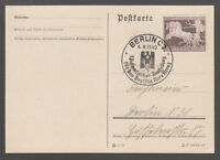 [45893] 1940 BROWN RIBBON STAMP on CARD - Mi747 - with FANCY CANCEL 4/8/1940