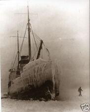 Ship Stranded in Lake Superior Ice Whitefish Point Michigan Shipwreck Marigold