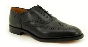 Loake Rahmengenähte Premium Herrenschuh 5 Eye Black Polished  Shoe 758B2