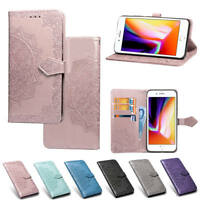 For iPhone XS XR XS Max 7 8 Wallet Flip PU Leather w/Card Slots Stand Case Cover