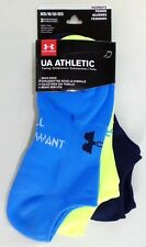 Under Armour Athletic Women's Training Solo Socks 3 Pack Medium Navy Yellow Blue