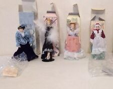 4 Avon Fashions Of American Times Porcelain Collectable Dolls EX CONDITION
