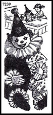 Pattern CIRCUS CLOWN PAJAMA PJ's CLOTHES BAG or DOLL Fabric Sewing #7239 DESIGN