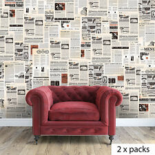 Newspaper Mural Art Decoration Wall Stickers Home Vintage 280cm x 180cm