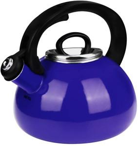 Whistling Tea Kettles, AIDEA 2.3 Quart Ceramic Tea Kettle for Stovetop, Enameled