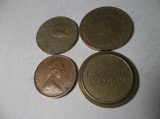 4 Coins - Hungary, Romania, Bermuda & Eurocoin