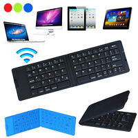 Slim Folding Portable Wireless Bluetooth Keyboard For iPhone Android Tablet PC