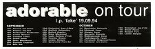 """NEWSPAPER CLIPPING/ADVERT 17/9/94PGN63 3X11"""" ADORABLE : FAKE LIVE TOUR DATES"""