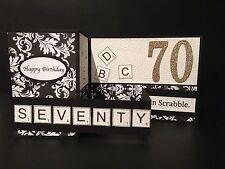 "Handmade card, 3D double ""Z"""" 70,60 or any Birthday"