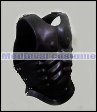 Leather Muscle Body Armour Black Reenactment Greek Roman Jackets Muscle Cuirass