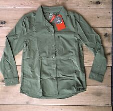 The North Face Boreaz Long Sleeve Roll Up Shirt NWT Women's Olive Green Medium M