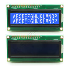 1602 16x2 Character LCD Display Module Blue Backlight HD44780 for Arduino 5V