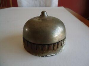 Antique Victorian era Door Bell , Large , Cast Iron & Brass , Nickel Plated