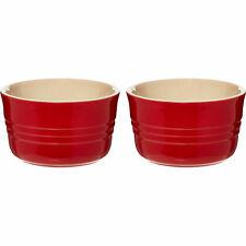 Le Creuset DUE PACK Red francese Ramekins - 9.5cm/0.2L