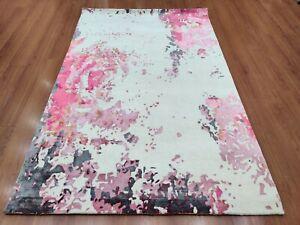 "High Quality Handmade Tufted 5'.6""x8' 170x240 Modern Wool Art Silk Carpet Rug"