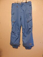 Mens Sessions Terrain snow ski pants - teal blue - size small