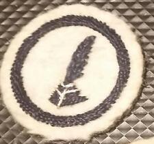 1912-1918 Girl Scout UK Guides WHITE FELT Badge WWI era CLERK - WRITER