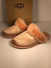 UGG Scuffette II Satin Suntan Size 10 Slippers Sheepskin 1096460 NEW