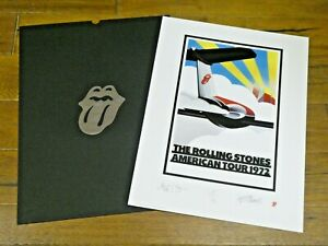 Original Rolling Stones American Tour 1972 Signed 18x24 Poster Lt. Ed. 246/1000