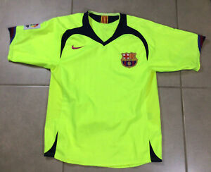 YOUTH VTG Men's 2006 FC Barcelona Sz M Jersey Shirt yellow soccer shirt