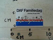 STICKER,DECAL DAF TRUCKS FAMILIDAG ZATERDAG 26 APRIL 1980