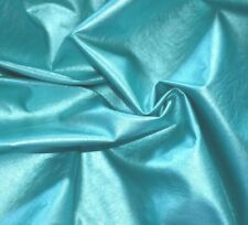 """Aqua Green Color  Faux Leather MiddleWeight 55"""" W Home Decor  Fashion Fabric BTY"""