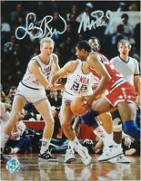Magic Johnson Larry Bird Dual Signed Autographed 8x10 Photo All Stars Game JSA