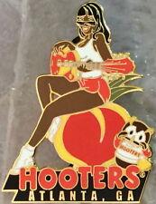 HOOTERS Atlanta GA Sexy Waitress BLACK GIRL Playing Guitar Sitting on Peach Owl