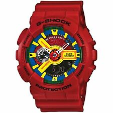 Mens Casio G-Shock Red Rubber Digital Chronograph Alarm Sport Watch GA110FC-1A