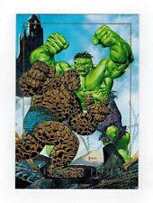 Marvel Masterpiece #1-D Thing Vs. Hulk foil card (1992)