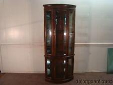 53483 Solid Cherry Jasper Corner Curio Cabinet