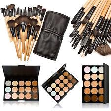 32Pcs Cosmetic Makeup Brush Pouch Bag Set 15 Color Concealer Camouflage Palette