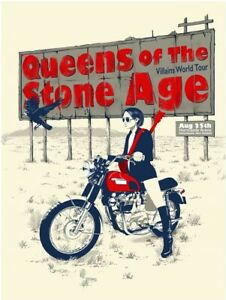 Queens of the Stone Age 2018 Christchuch New Zealand Concert Poster Rare