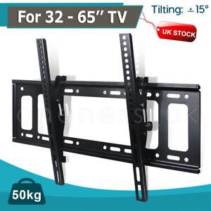 """Tilt Wall Mount Bracket for 32 40 43 50 55 60 65"""" TV LED LCD Plasma VESA UK"""