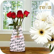Reva Expanding Durable Vase I Love You Reusable Flower Vases Xmas Birthday Gift
