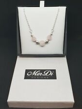 Handmade necklace with Sterling Silver & Rose Quartz