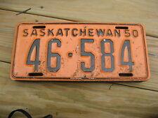 1950 50 SASKATCHEWAN CANADA CANADIAN LICENSE PLATE 46-584  ORIGINAL TAG