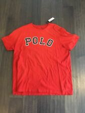 Polo Ralph Lauren T Tee Shirt XXL Custom Fit Spell Out New Red Sewn Letters