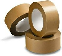 Biodegradable Brown Kraft Paper Packaging Parcel Tape Self Adhesive Sticky Rolls