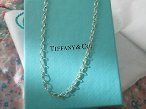 Tiffany & Co solid 18ct gold Oval link chain necklace